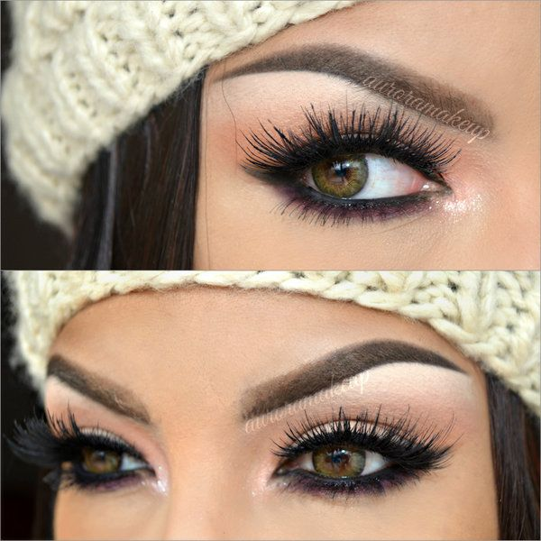 Gorgeous eye makeup inspiration for hazel or dark green eyes! This link even has the products that she used to create this look.