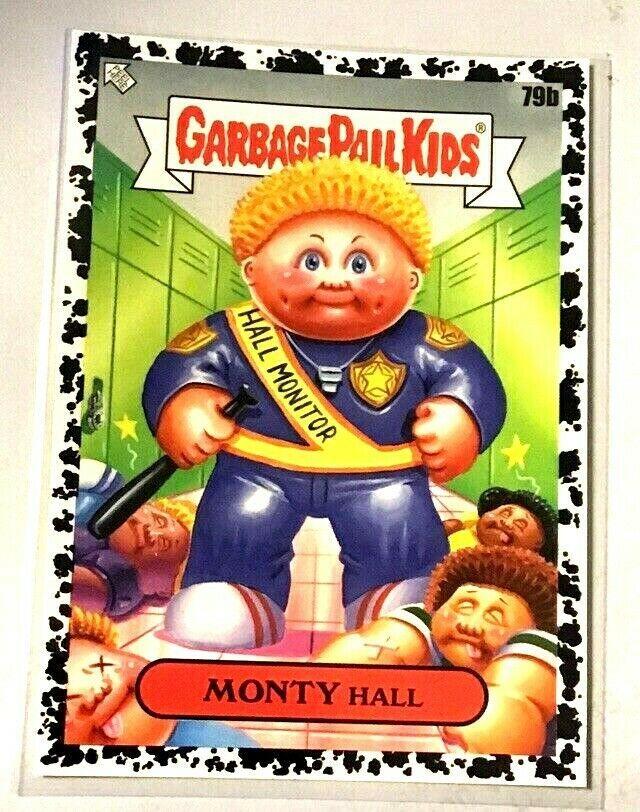2020 Garbage Pail Kids Late To School S1 Bruised Black Monty Hall 79b Gpk Nm Garbage Pail Kids Pail Kids