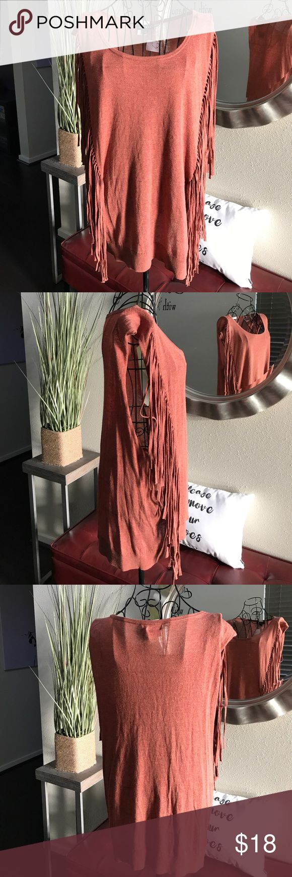 Trouve Fringe Tank Top Trouve Fringe Tank Top Trouve Tops Blouses