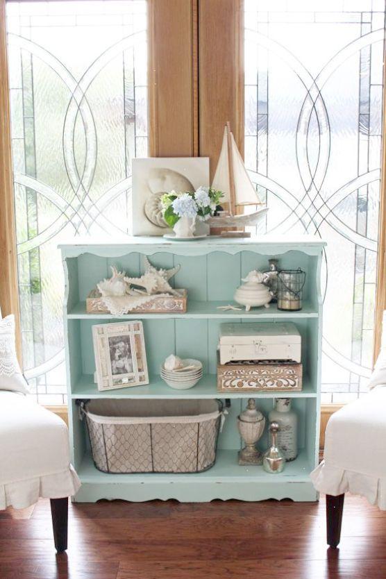 Cool Beach House Decor Pinterest Repin Bookcase Makeover