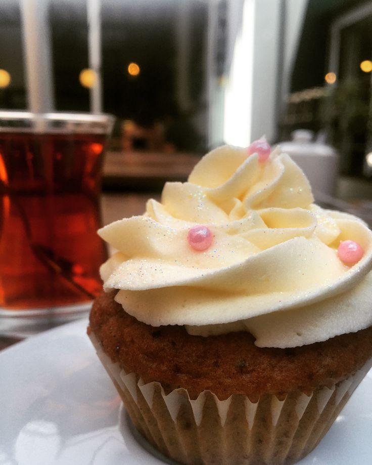 Lovely cupcake with Turkish tea #galatabakery #Braamies #johannesburg #braamfontein #cupcake