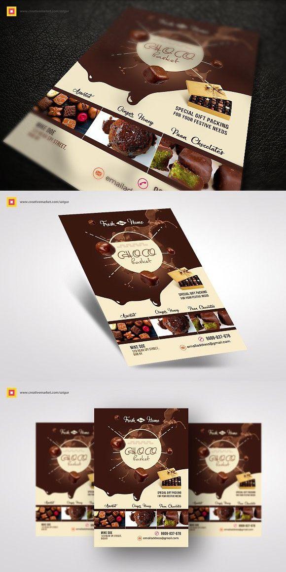 Chocolate Flyer. Flyer Templates