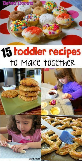 15 Toddler Recipes to Make Together. Great afternoon activity for the summer.