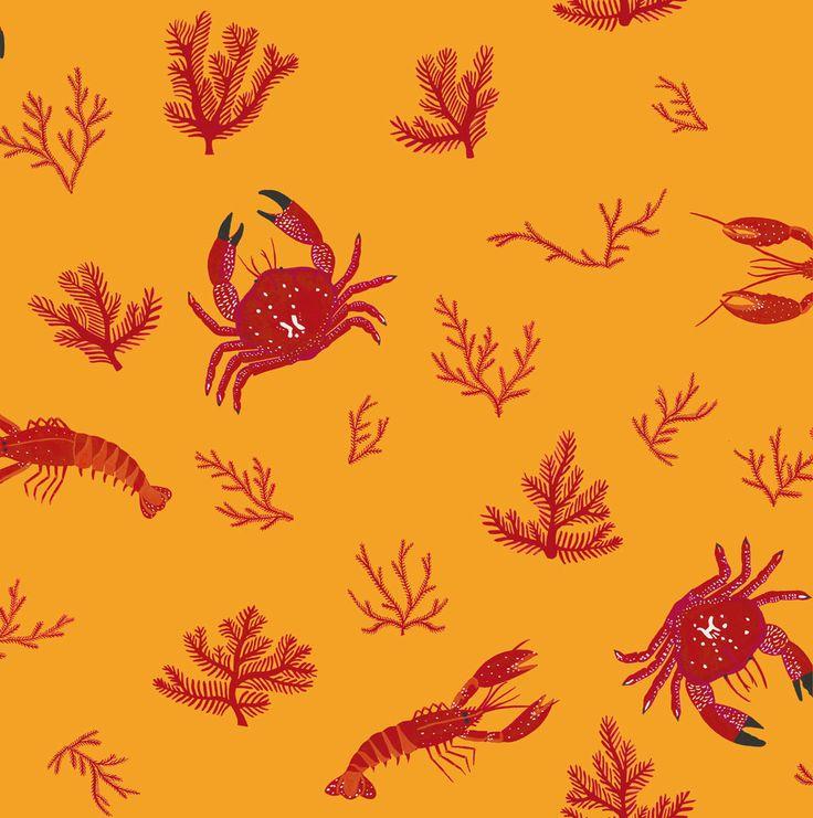 Crustaceos Mustard wallpaper by Coordonne