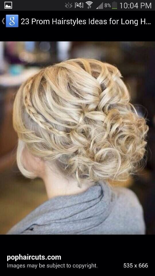 Possible hair style - I like the intricate braids and that it's a loose up do