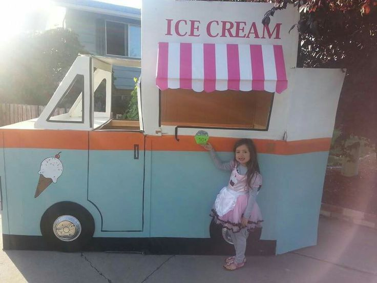 cardboard ice cream truck