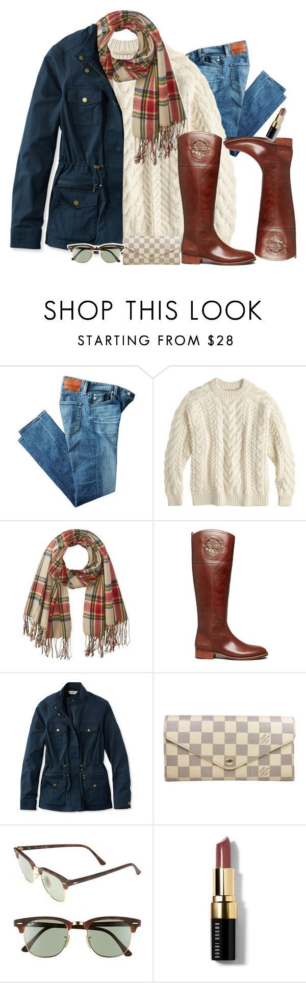 """""""What's your favorite season??"""" by preppygirlusa ❤ liked on Polyvore featuring AG Adriano Goldschmied, J.Crew, Rampage, Tory Burch, L.L.Bean, Louis Vuitton, Ray-Ban and Bobbi Brown Cosmetics"""