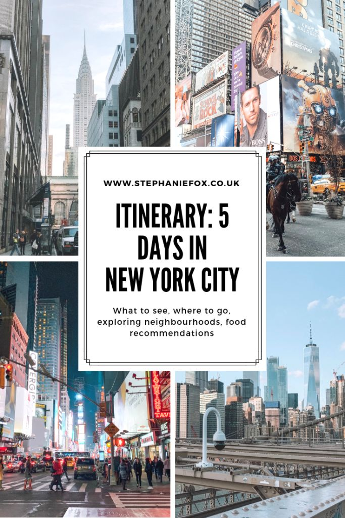 Itinerary: 5 Days in New York City