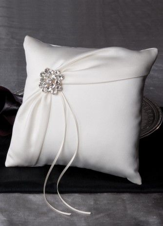 This Garbo Ring Pillow by Ivy Lane is soft and elegant. Also available in other colors! Available through The Persnickety Bride. http://www.thepersnicketybride.com/