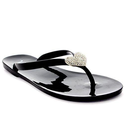 Damen Sommer Urlaub Diamante Gelee Schuhe Strand Flip-Flops Sandalen - http://on-line-kaufen.de/viva/damen-sommer-urlaub-diamante-gelee-schuhe-strand