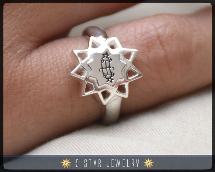 47 Best Bahai Rings By 9 Star Jewelry Images On Pinterest Star