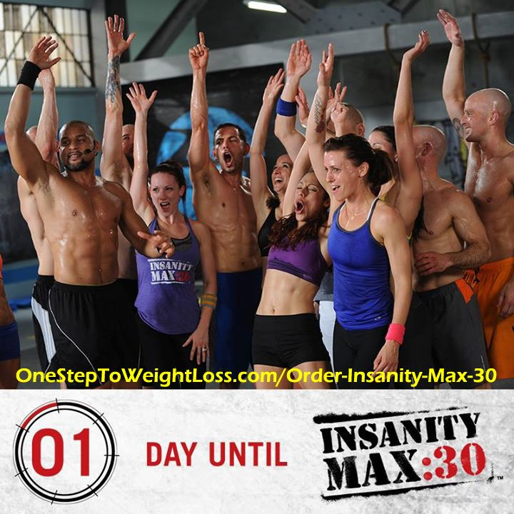 Less than a day left until Insanity Max 30 is released! Go here to place your order before it SELLS OUT! http://www.onesteptoweightloss.com/order-insanity-max-30 #Insanity2MAX30
