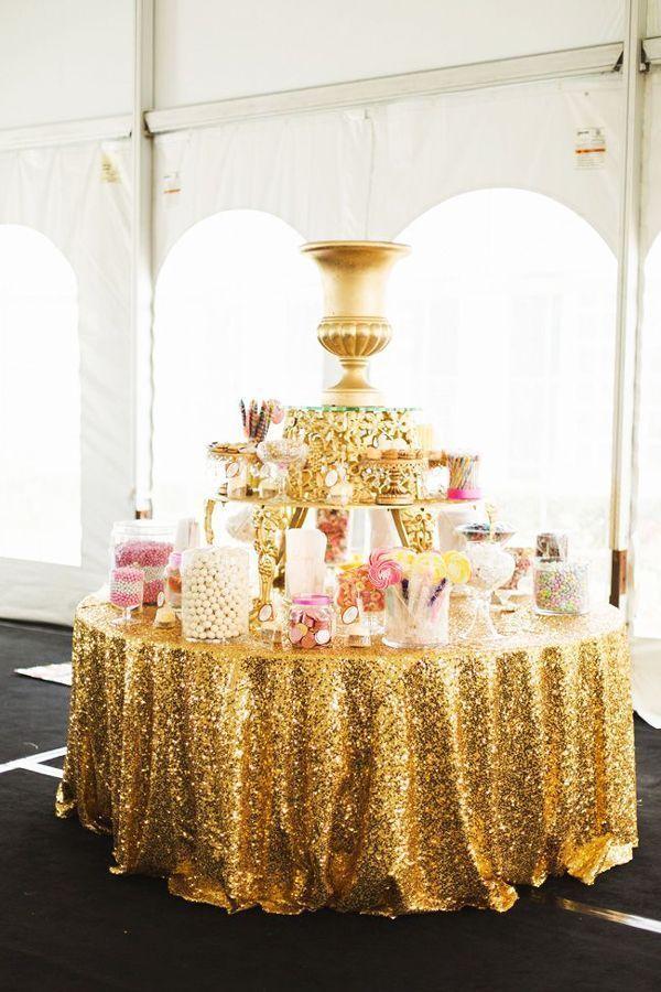 Gold Candy Buffet Mesa De Dulces Boda Dulces Para Bodas Buffet De Dulces