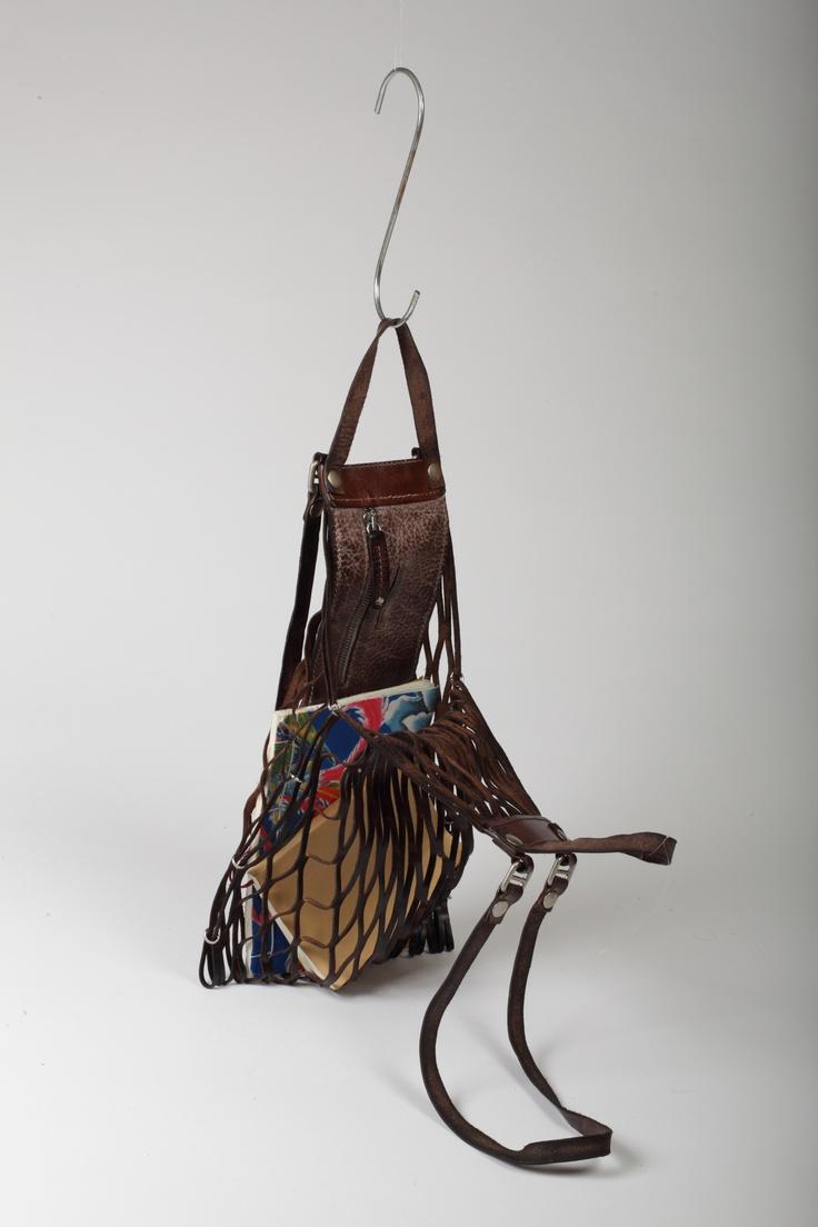 Amazing leather Web bag!