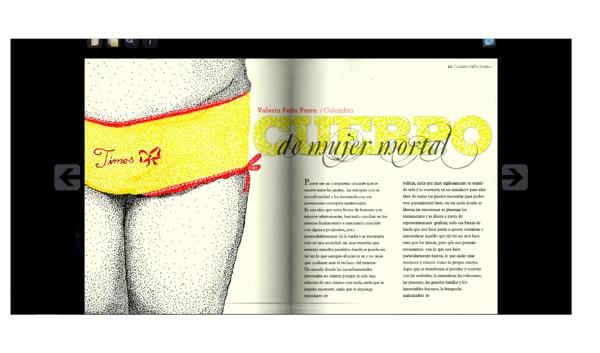 Publicación Revista revista Fluxus 07   http://www.fluxusmagazine.com/fluxusmagazine_07/index.html#/Fluxus%20Magazine%20VII%20:%20:%20Cuerpo/0