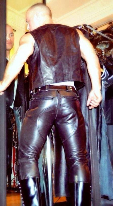 Sexy black nightclub temptation leather rivet police uniform gay bar performance clothing cosplay men's lingerie