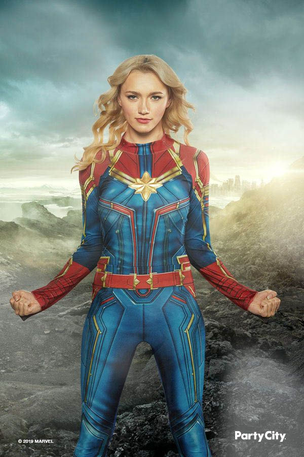 Pin On Halloween Costumes Featuring the style of captain marvel's signature red, blue, and gold suit, this awesome jumpsuit will transform you into your favorite marvel superhero in no time at all. pin on halloween costumes