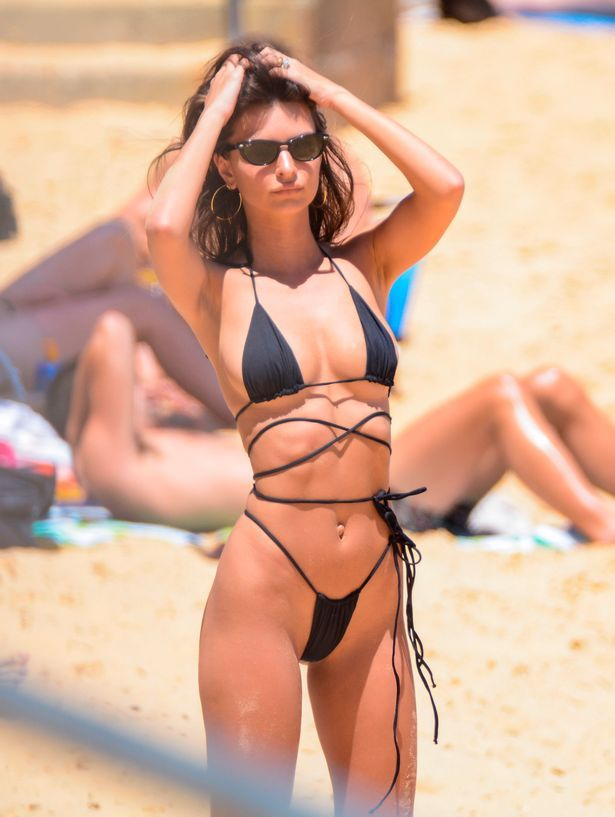 d7ec631d164 Emily Ratajkowski sizzles in tiny string bikini on the beach in ...