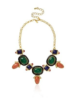 Kenneth Jay Lane Multi Stone Deco Necklace