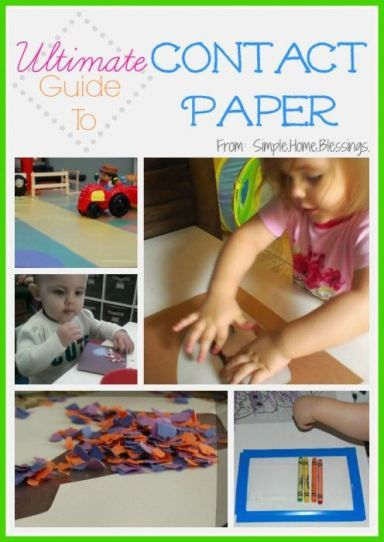 Ultimate Guide to Contact Paper - craft projects for kids utilizing contact paper