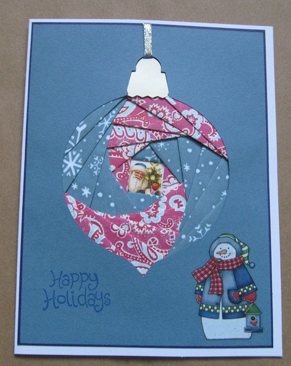 Happy Holidays Greeting Card  Iris Folding  CIJ by Stuffbysteph77