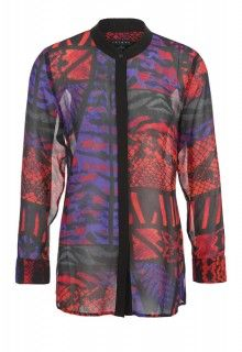 Contrast Trim Blouse (Cayenne) #tribalsportswear #fall2014 #fallfashion #fallstyle
