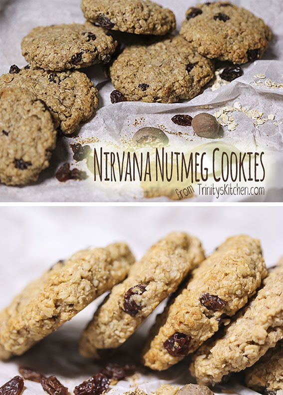Nirvana Nutmeg Oat & Raisin Cookies... a tasty satisfying cookie.  #wheatfree #vegan #plantbased