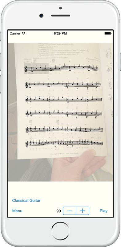 Sheet Music Scanner - take a photo of a score with your iPad camera and then press play to hear your score.
