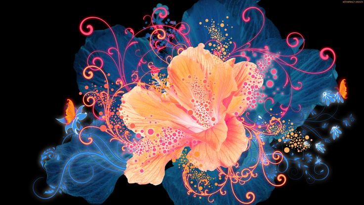 Artistic Flower  Wallpaper