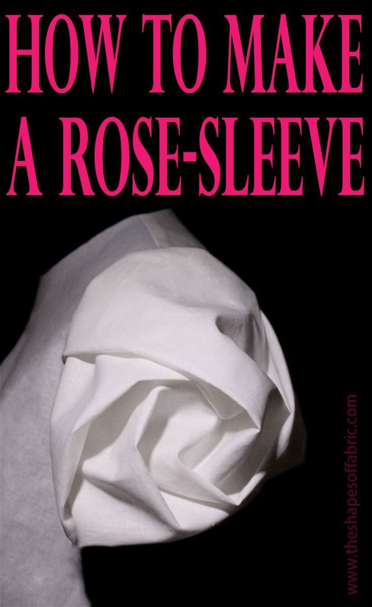 Tutorial: how to make a rose-sleeve using the smocking technique