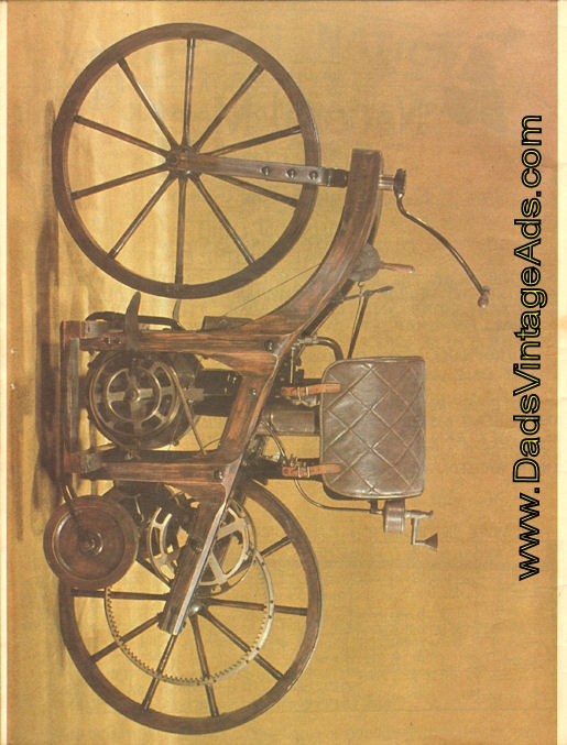 The first motorcycle built by Gottlieb Daimler