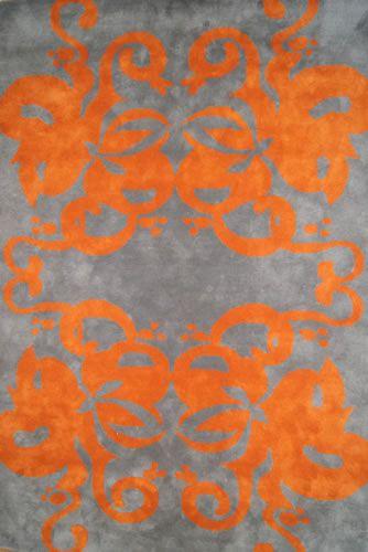 RUG moattar.com CydneySizes: 4ft. x 6ft.   6ft. x 9ft.   8ft. x 10ft.   9ft. x 12ft.   10ft. x 14ft. Color: orange grey