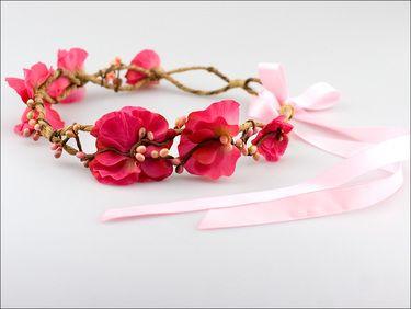 Sweet pea floral crown: Fuchsia