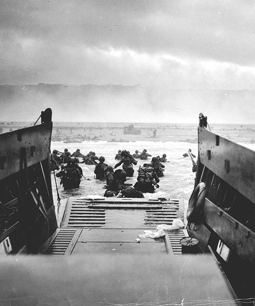 June 1944 - D-Day, the Normandy Invasion.