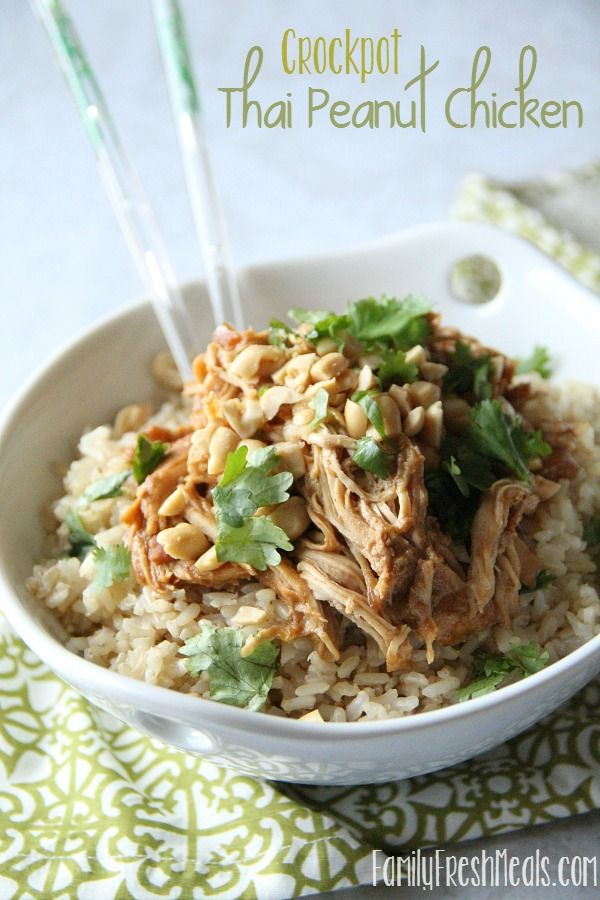 women silver ring Crockpot Thai Peanut Chicken  Recipe