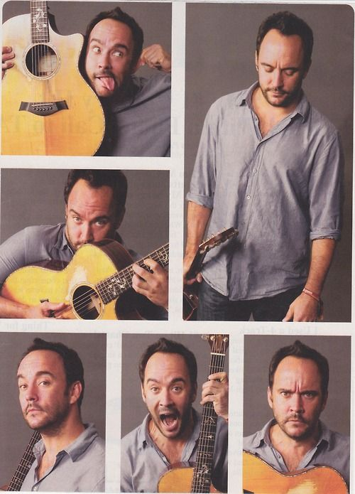 The many faces of Dave Matthews <3 Love this guy!! (says the person currently listening to Dave on Pandora!)