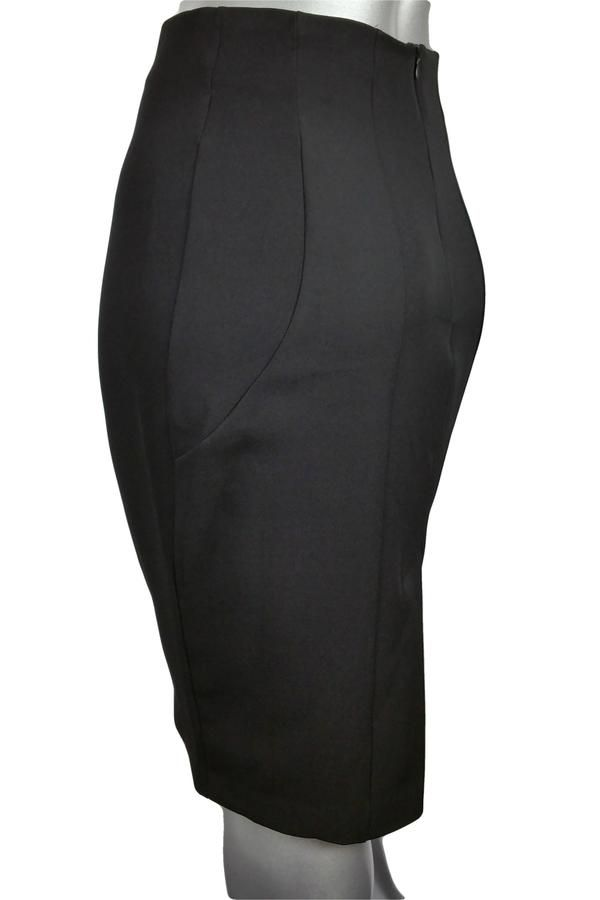 Black pencil skirt with panels