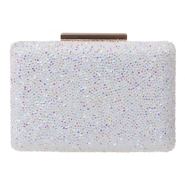 Cynthia Square Hard Case Clutch in SILVER #22016 - colette by colette hayman