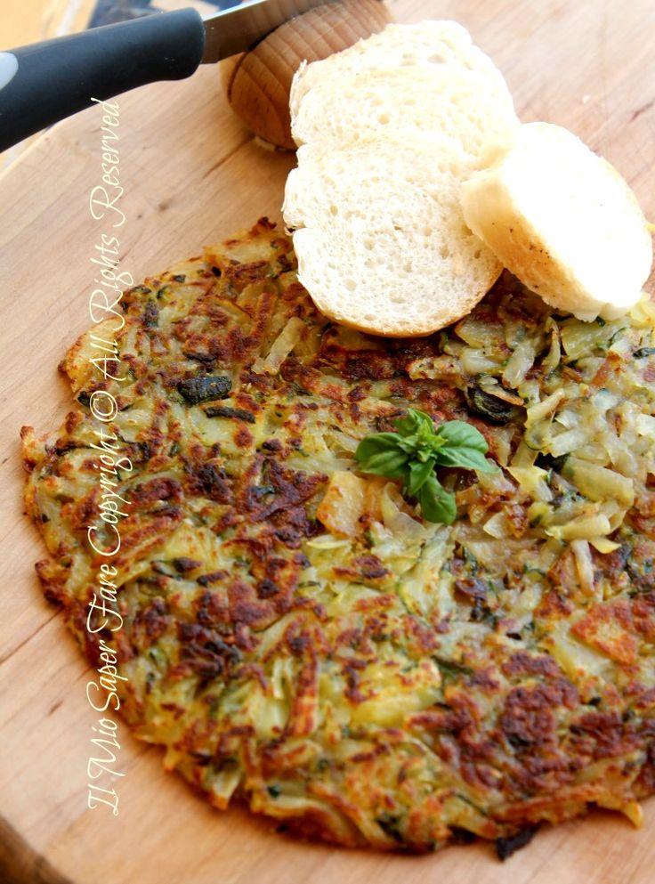 Rosti zucchine patate in padella ricetta blog il mio saper fare