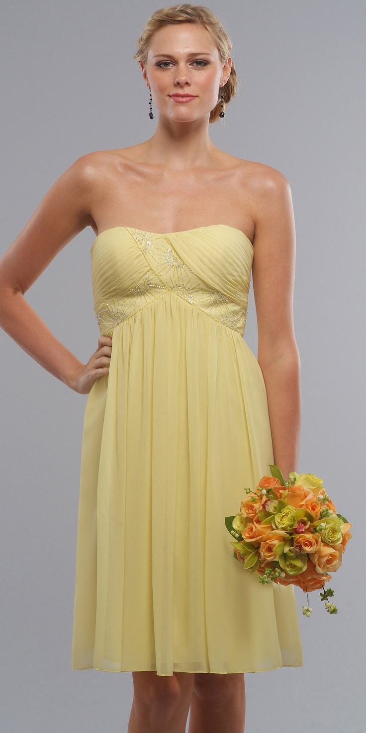 Sweetheart Cocktail Bridesmaid Dresses by Liz Fields in yellow12 best Yellow dress images on Pinterest   Yellow dress  Yellow  . Liz Fields Wedding Dresses. Home Design Ideas