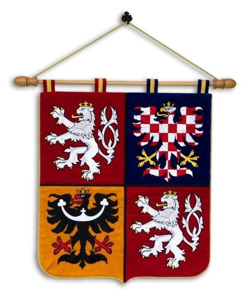 Embroidered wall emblem of the Czech Republic