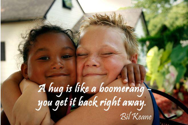 What does a cheek to cheek hug mean