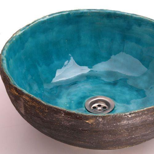 handmade sink, ceramic sink, waschbecken, washbasin, sink from clay, clay basin