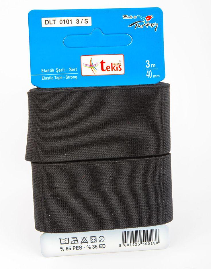 40 mm Elastic Tape / 3 m / Black
