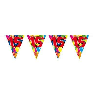 15 jaar slinger ballonnen - 10 meter  Deze vlaggenlijn is ideaal ter viering van een 15 jaar verjaardagsfeest of jubileum.  EUR 2.45  Meer informatie