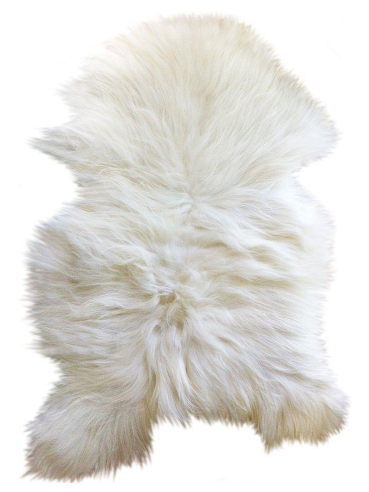 Peau de mouton One Moumoute /Poils longs - 50 x 100 cm Poils longs / Blanc - FAB design - Décoration et mobilier design avec Made in Design