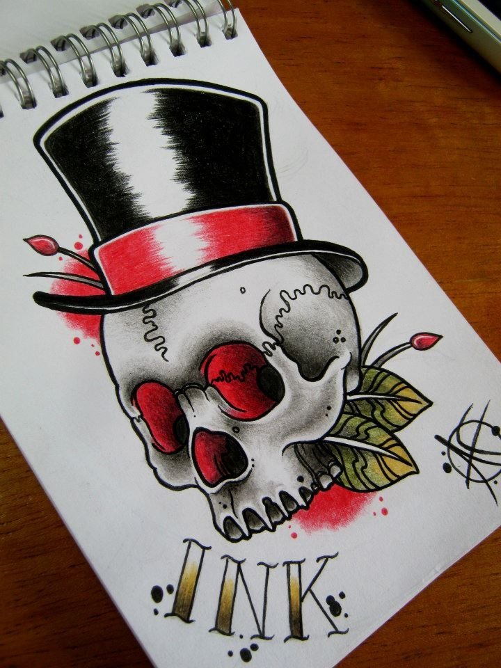 skull with top hat my future tattoo ideas pinterest this is awesome awesome and old. Black Bedroom Furniture Sets. Home Design Ideas