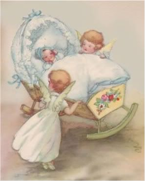 vintage victorian angels baby cradle photo 6F-BABY-ANGELS.jpg