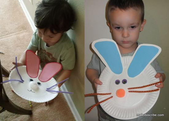 Easy Easter Craft ...you could use a child's  footprints for the ears...Pink ears for girls and blue ears for boys