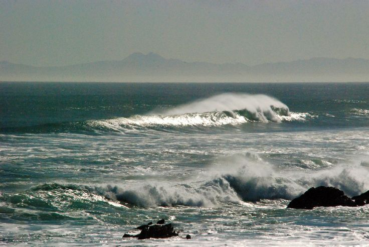 A seascape to the south of Port Elizabeth, South Africa.